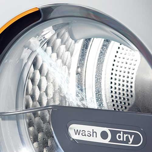 Waschen und Trocknen mit dem selben Gerät - platzsparend - energiesparend - zeitsparend