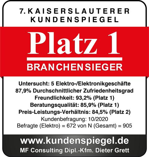 Elektro Wollersheim ist Branchensieger Kundenzufriedenheit